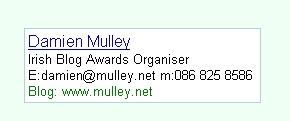Damien mulley Business Card