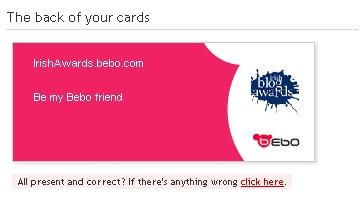 Bebo Cards