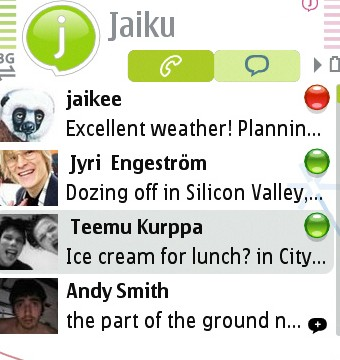 Jaiku address book