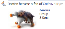 Facebook fan of Gnéas