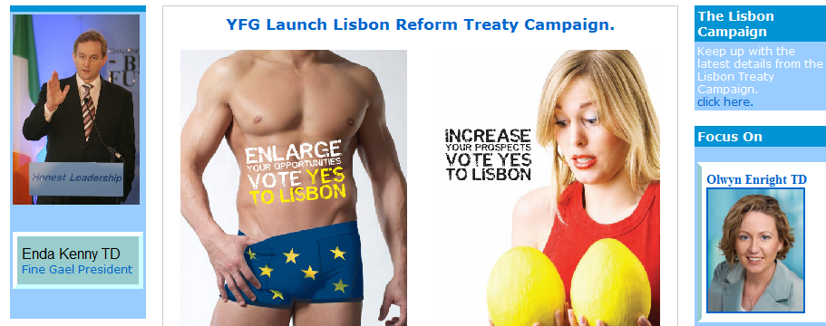 Young Fine Gael website