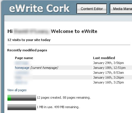 eWrite Demo screenshot