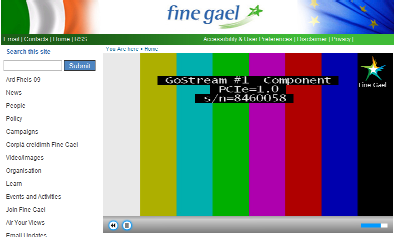 Fine Gael front page