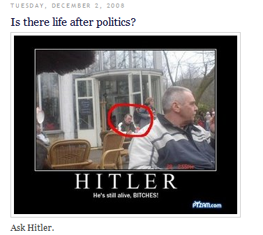 Keith Martin and pic of Hitler