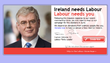 Labour front page